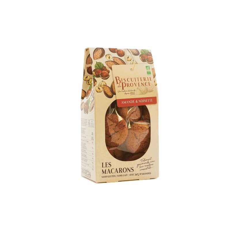 Macarons noisettes BIO Sans Gluten, Biscuiterie de Provence (130 g)