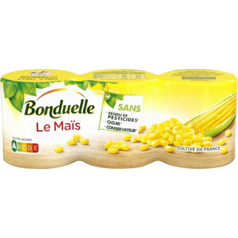Maïs sans résidu de pesticide, Bonduelle (x 3, 420 g)