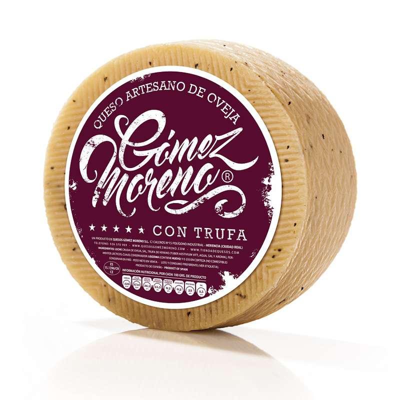 Manchego semi curado à la truffe, Gomez Moreno (environ 250 g)