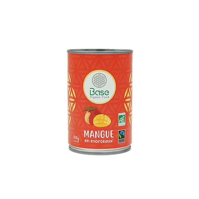 Mangue en morceaux BIO, Base Organic Food (430 g)