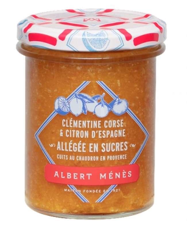 Marmelade allégée de Clémentine de Corse et de Citron d'Espagne, Albert Ménès (265 g)