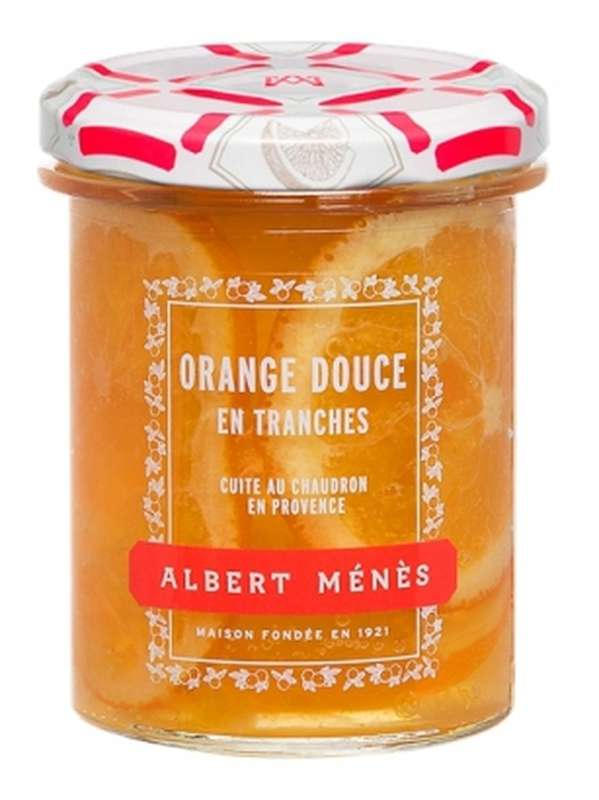 Marmelade d'Orange douce d'Espagne en tranches, Albert Ménès (280 g)