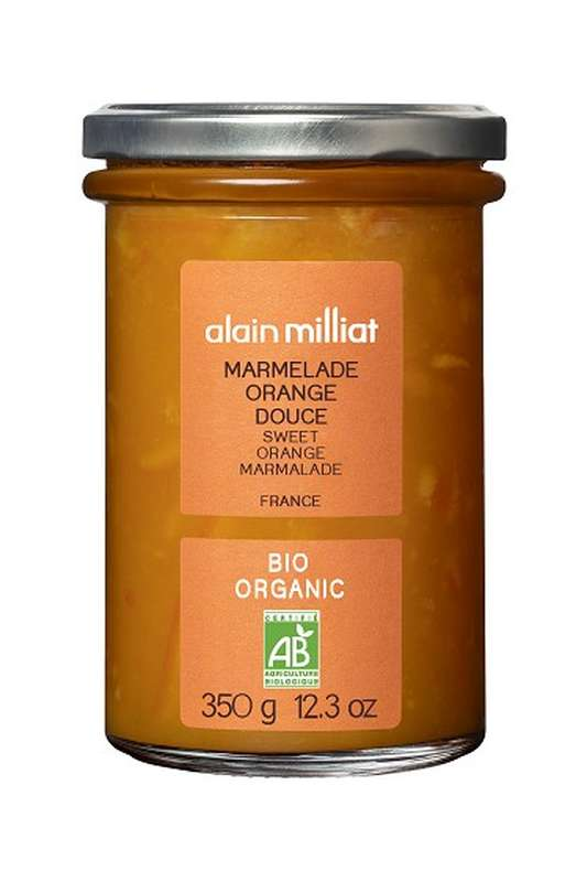 Marmelade Orange Douce BIO, Alain Milliat (350 g)