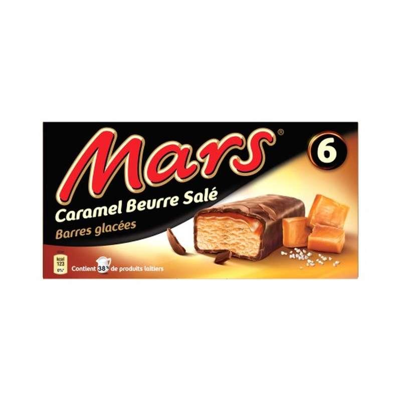 Barre glacée Mars au caramel beurre salé (x 6)