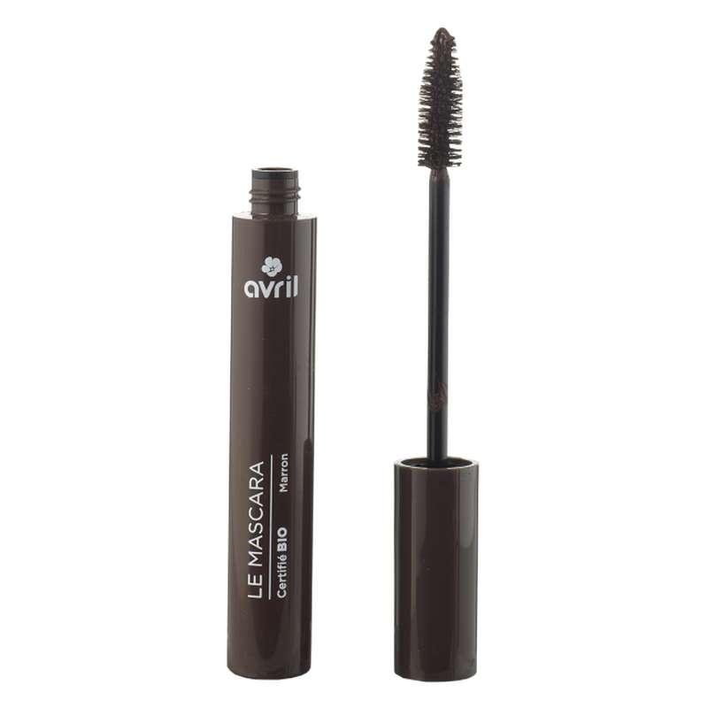 Mascara longue tenue marron certifié BIO, Avril (9 ml)