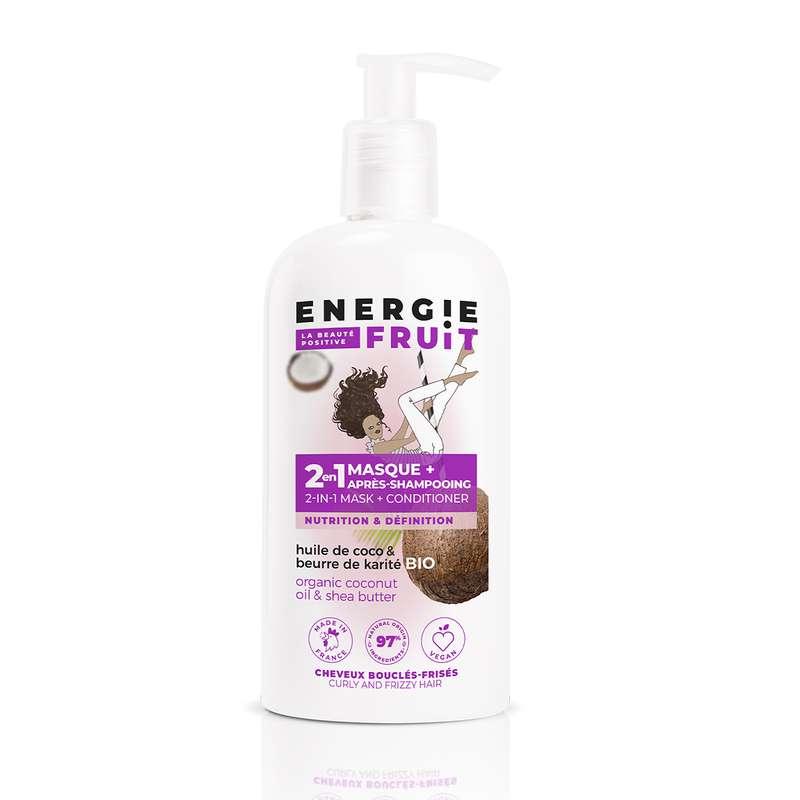 Masque 2 en 1 Parfum Coco et Beurre de Karité, Energie Fruit (300 ml)