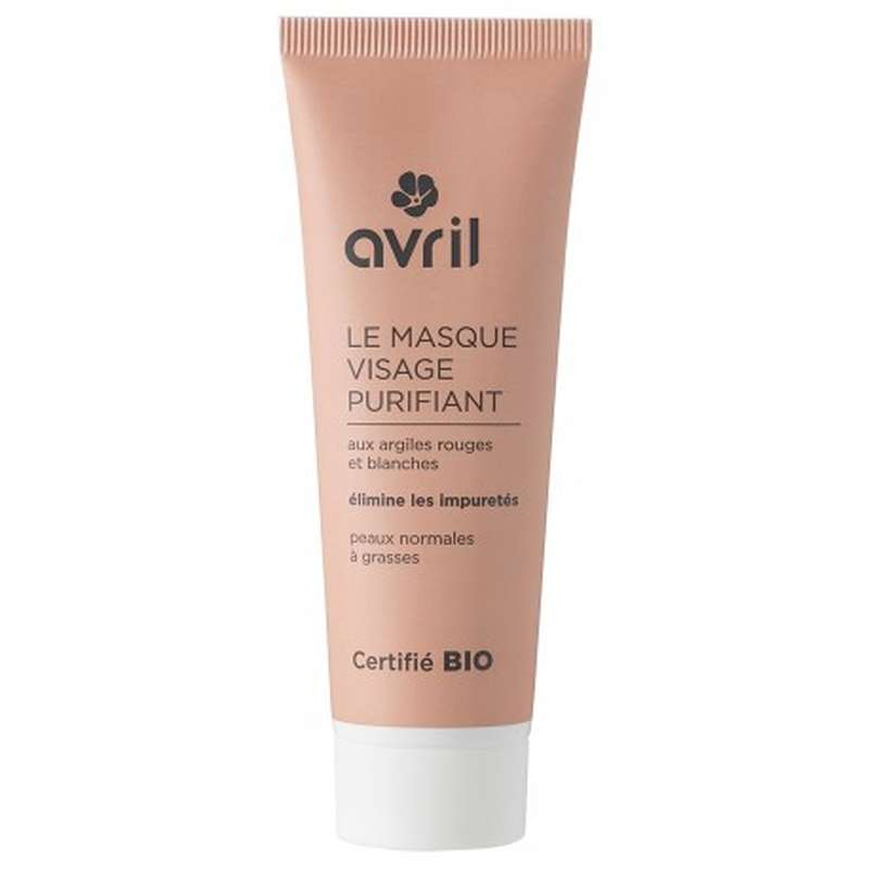 Masque visage purifiant certifié BIO, Avril (50 ml)