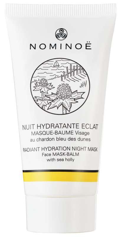 Masque baume visage Nuit hydratante Éclat BIO, Nominoë (40 ml)