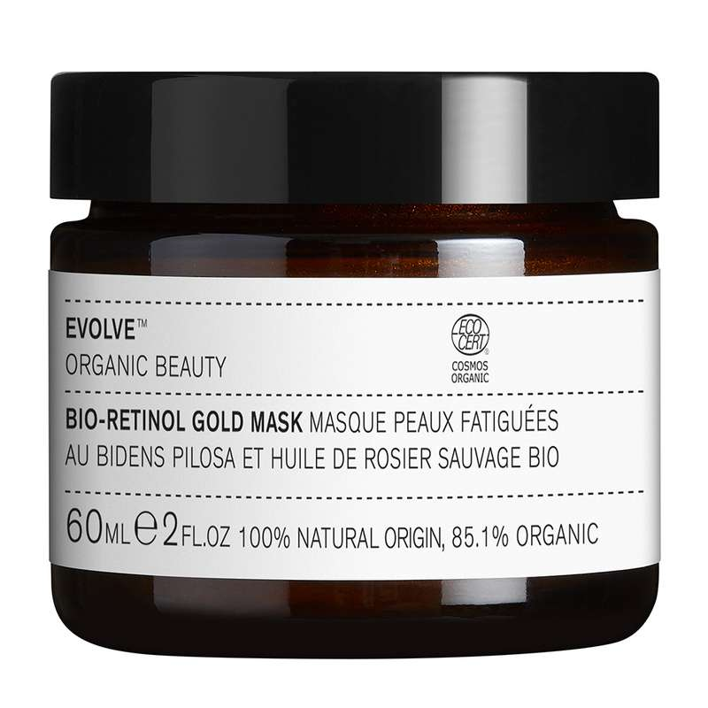 Masque doré au Bio-Retinol pour le visage BIO, Evolve (60 ml)