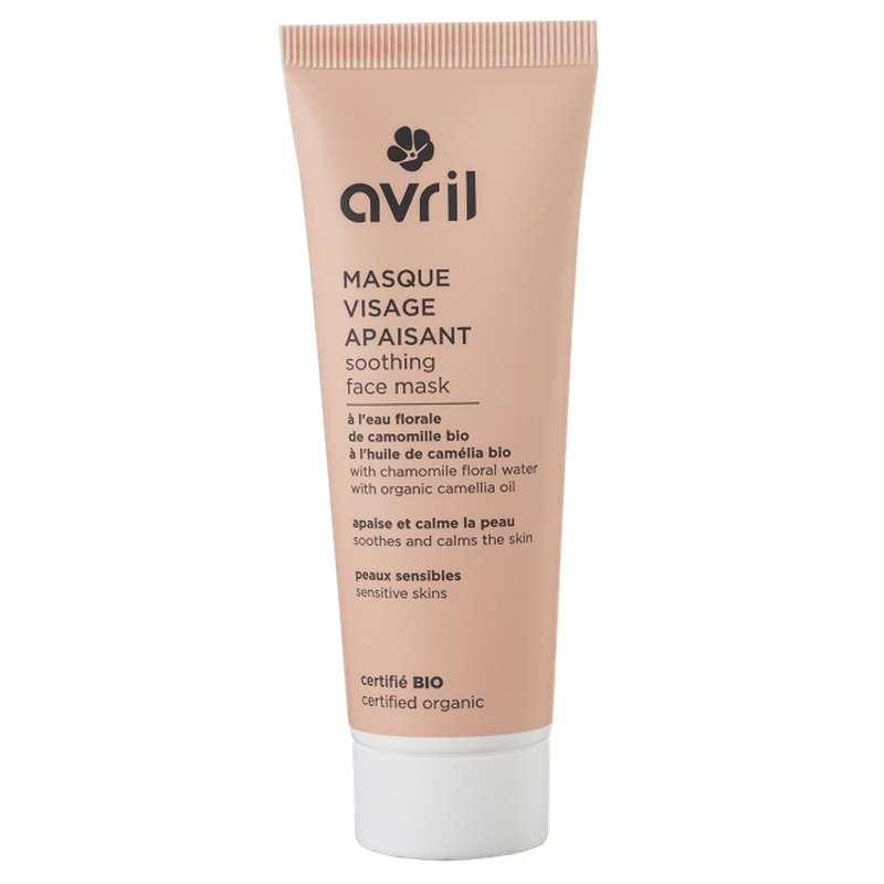 Masque visage apaisant certifié BIO, Avril (50 ml)