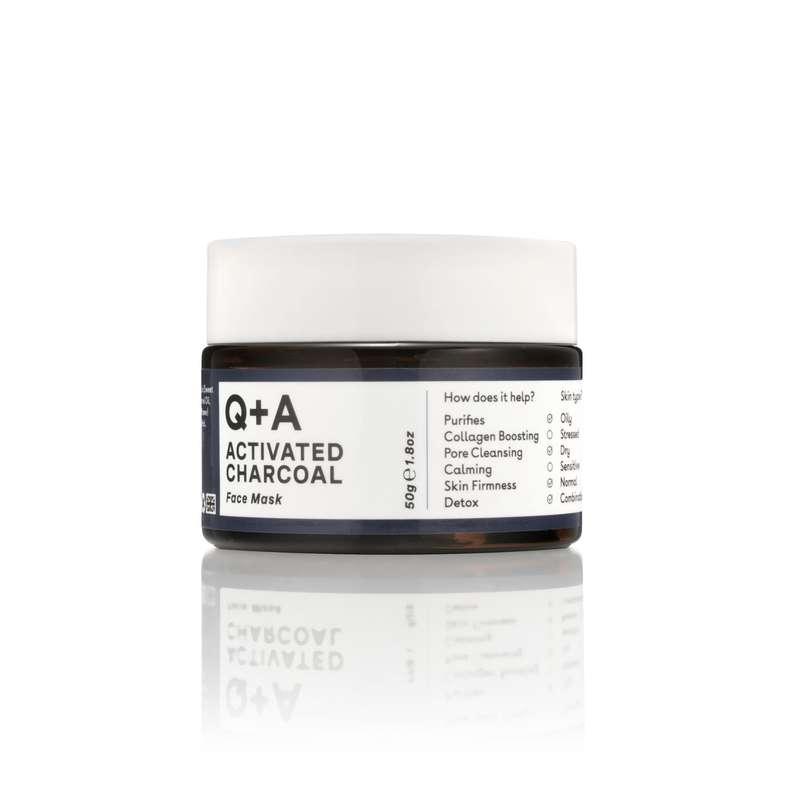 Masque visage au charbon actif, Q+A (50 g)
