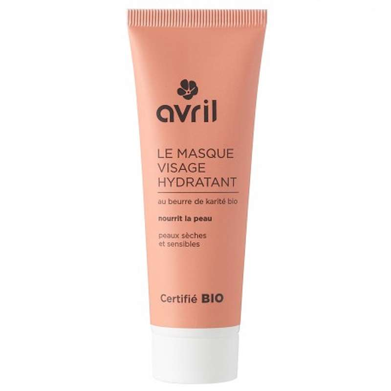Masque visage hydratant certifié BIO, Avril (50 ml)