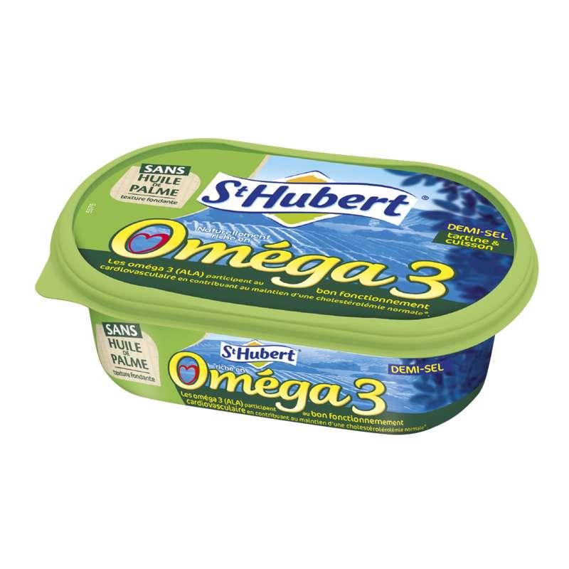 Margarine Omega 3 sans huile de palme demi-sel, Saint Hubert (250 g)