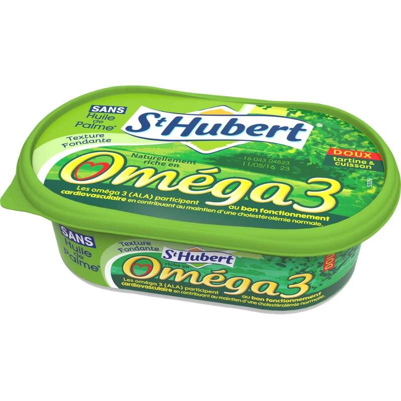 Margarine Omega 3 doux enrichie en vitamine B1, Saint Hubert (250 g)