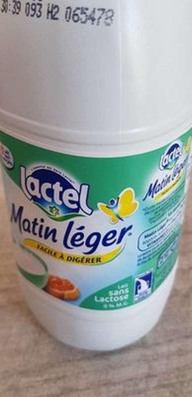 Lait Matin léger facile à digérer 0% MG, Lactel (1 L)
