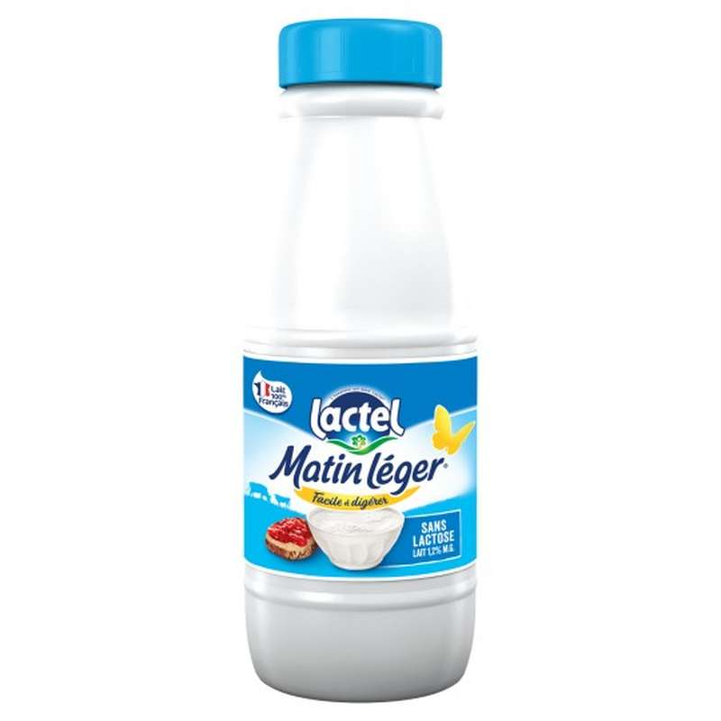 Lait Matin léger facile à digérer 1,2% MG, Lactel (50 cl)