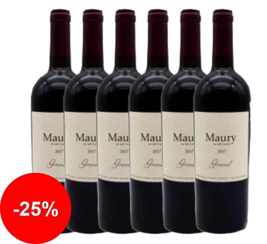Maury Grenat 2017 - AOP Vin Doux Naturel, Grenache Noir (75 cl, caisse de 6)