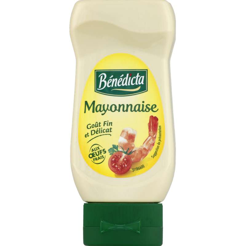 Mayonnaise nature flacon souple, Benedicta (235 g)
