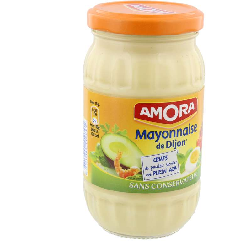 Mayonnaise Opéra sans conservateur, Amora (235 g)