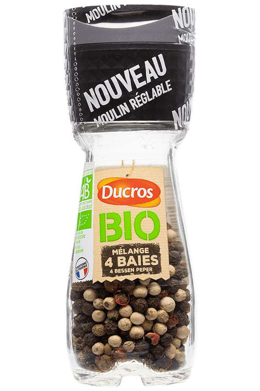 Mélange 4 baies moulu BIO, Ducros (25 g)