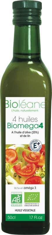 Mélange 4 huiles vierges BIO Biomega 4, Biolene (50 cl)