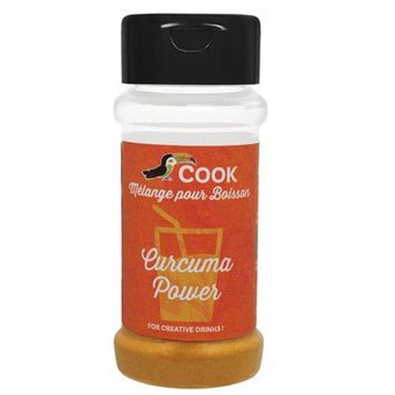 Mélange curcuma power pour boissons BIO (curcuma, gingembre, poivre noir), Cook (35 g)