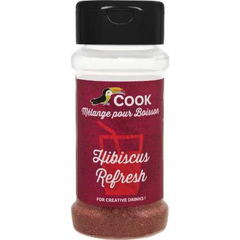 Mélange hibiscus refresh pour boissons BIO (hibiscus, gingembre, betterave rouge), Cook (35 g)