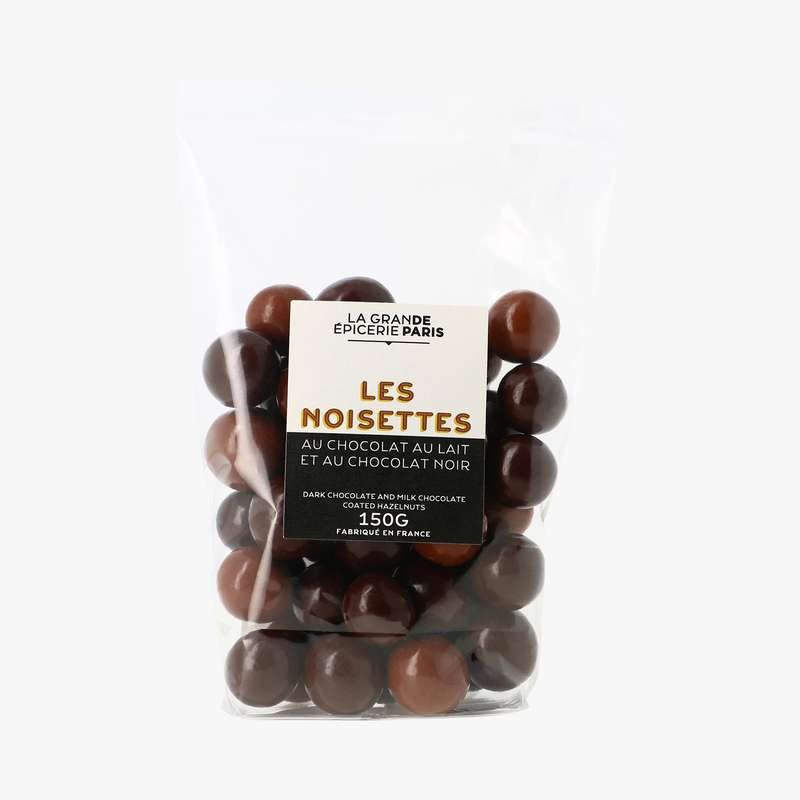 Mélange noisettes chocolat au lait et chocolat noir, La Grande Epicerie de Paris (160 g)