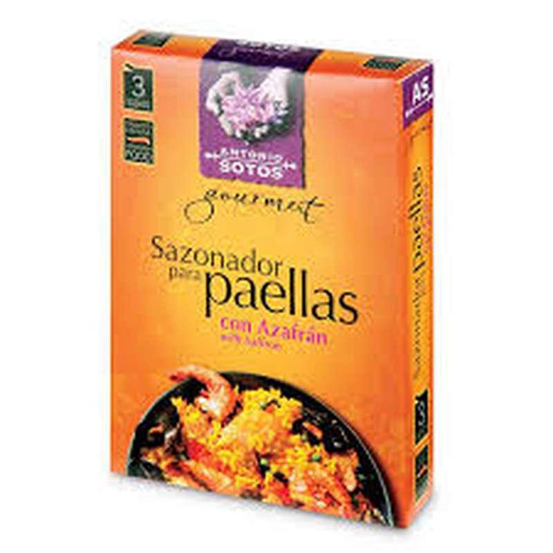 Mélanges d'épices spécial Paëlla en dosettes, Antonio Sotos (3 x 3 g)