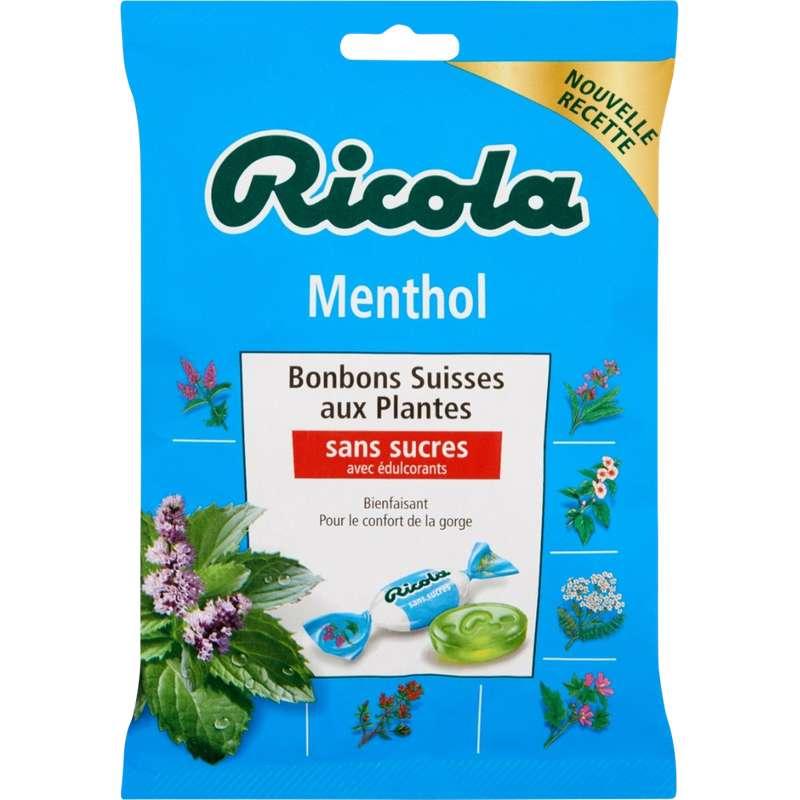 Bonbons menthol aux plantes sans sucre, Ricola (70 g)