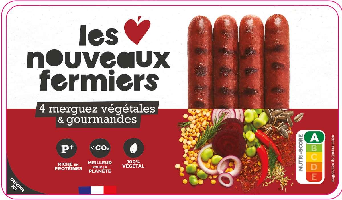 Merguez végétales & piquantes, Les Nouveaux Fermiers (x 4, 200 g)