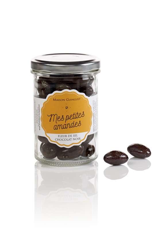 Mes petites amandes fleur de sel chocolat noir, Maison Guinguet (120 g)