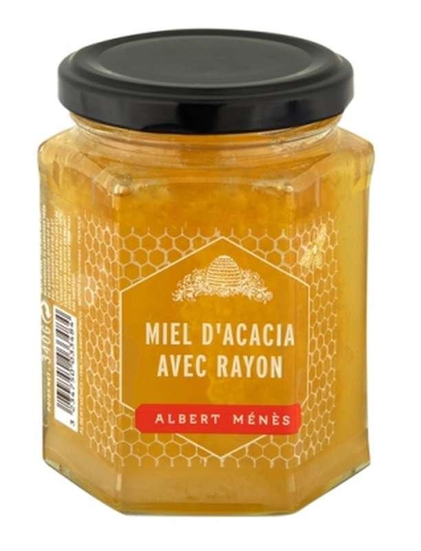 Miel d'Acacia avec rayon, Albert Ménès (340 g)