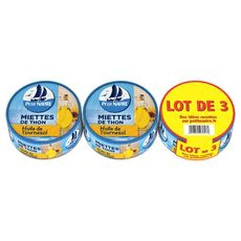 Miettes de thon à l'huile de tournesol, Petit Navire LOT DE 3 (3 x 140 g)