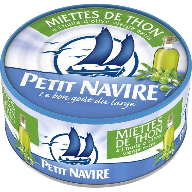 Miettes de thon à l'huile d'olive vierge extra, Petit Navire (160 g)