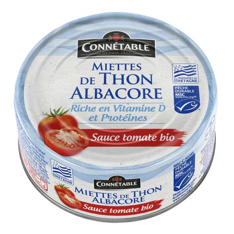 Miettes de thon albacore BIO MSC, Connetable (160 g)