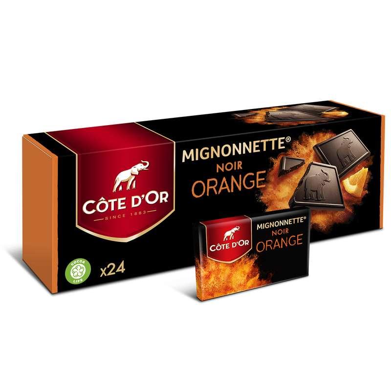 Mignonnettes au chocolat noir aux éclats d'orange, Côte d'Or (x 24)