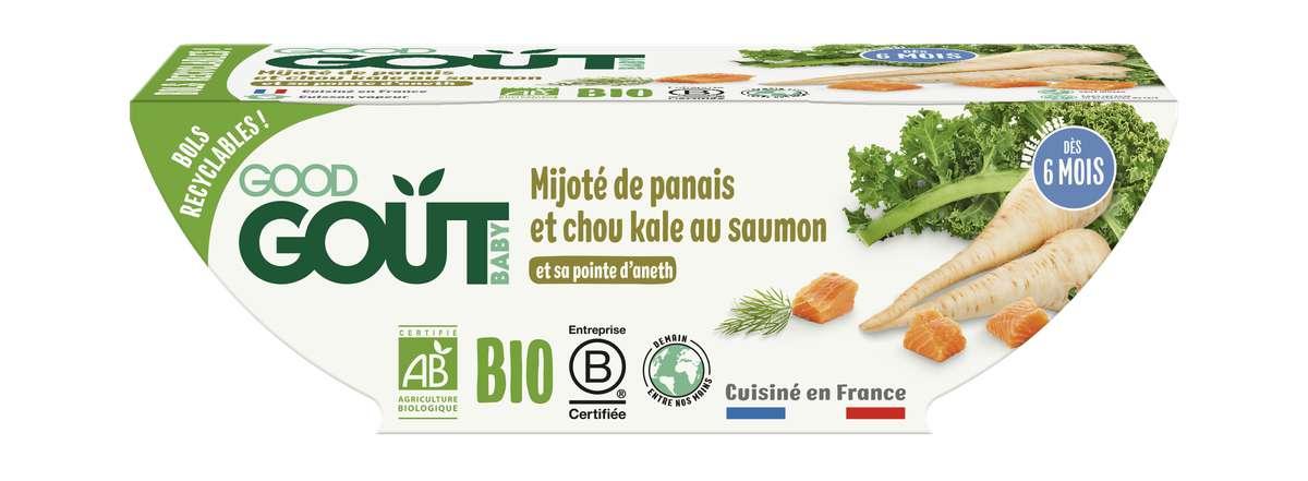 Mijoté de panais et chou kale au saumon BIO - dès 6 mois, Good Goût (2 x 190 g)