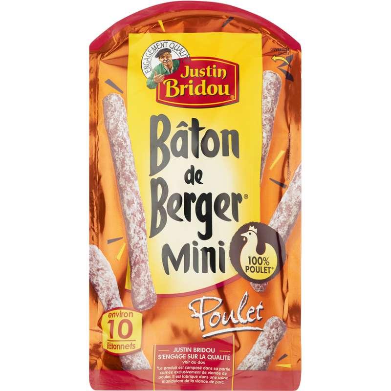 Mini Bâtons de berger au poulet, Justin Bridou (100 g)