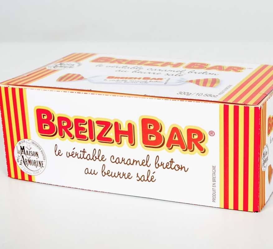"Mini boîte ""Breizh Bar"" caramels tendres, La Maison d'Armorine (80 g)"
