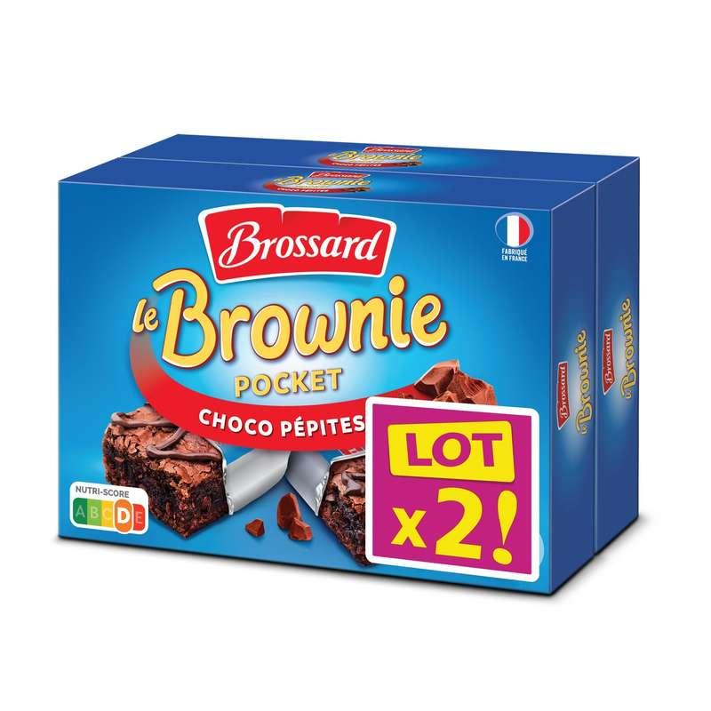 Mini Brownies au pépites de chocolat, Brossard LOT DE 2 (2 boites de 8 x 30 g)