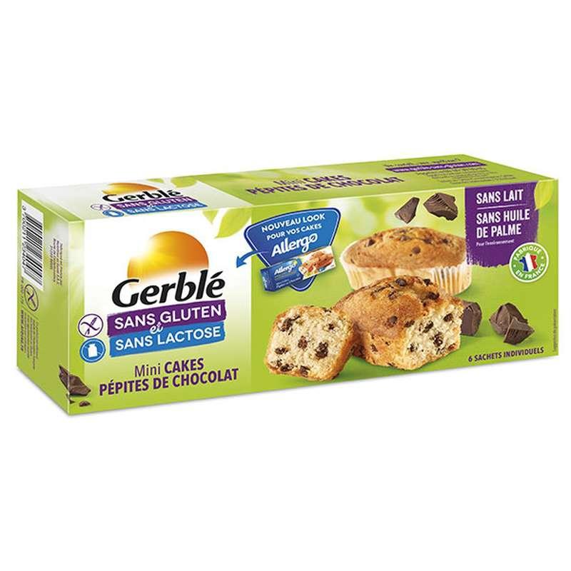 Mini cakes aux pépites de chocolat sans gluten et sans lactose, Gerblé (x 6, 230 g)