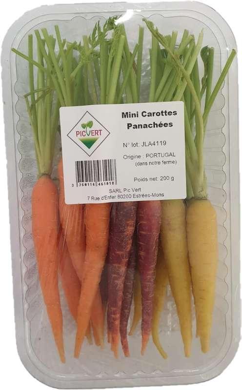 Mini carottes multicolores (200 g), Portugal