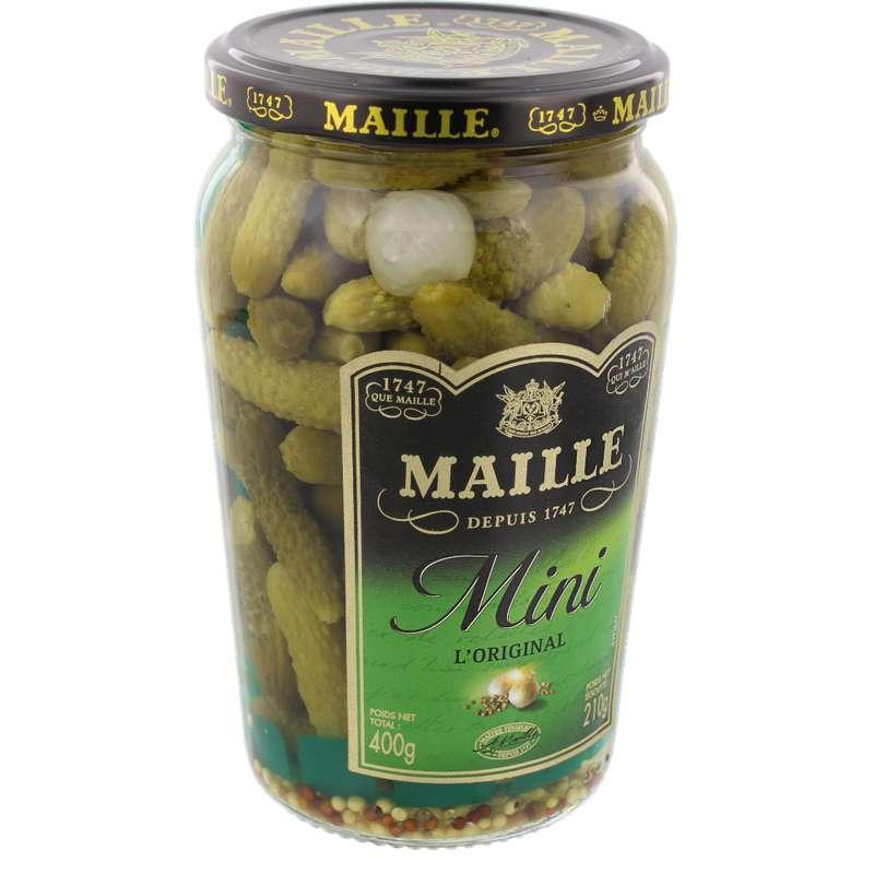 Mini cornichons recette classique, Maille (210 g)
