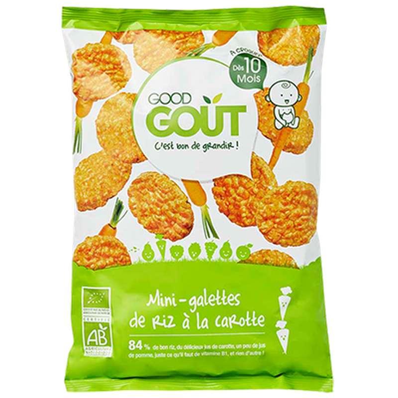 Mini galettes de riz à la carotte BIO - dès 10 mois, Good Goût (40 g)