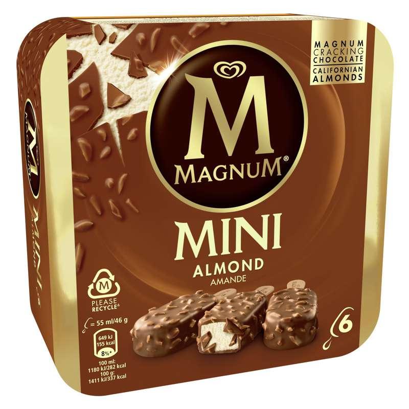 Mini Batonnets de glace aux amandes, Magnum (x 6)