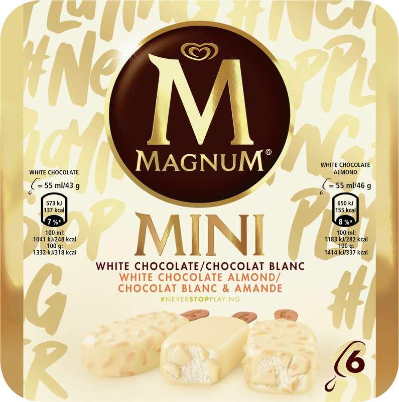 Mini Magnum blanc et amande (x 6)
