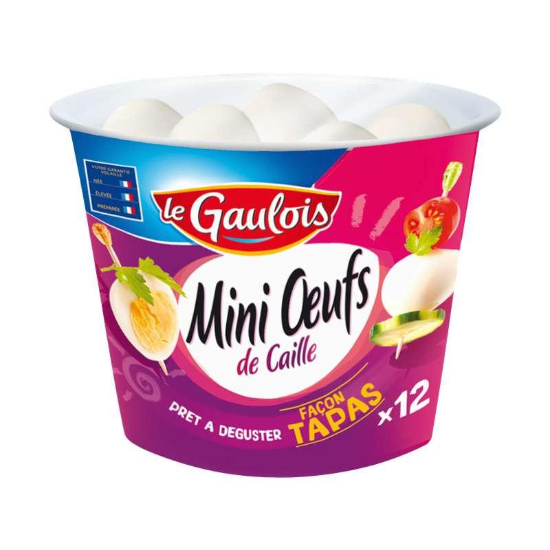 Mini oeuf de caille cuits, Le Gaulois (x 12)