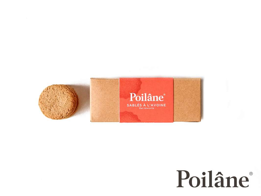 Mini-réglette sablés avoine vegan, Poilâne (125 g)