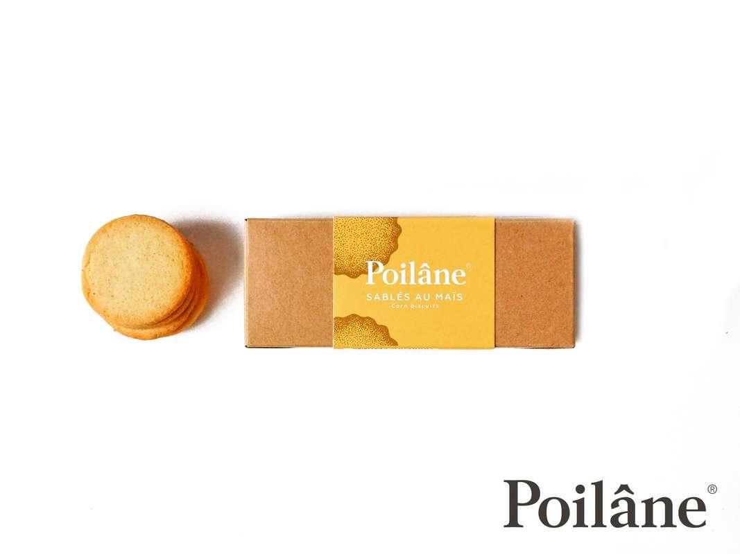 Mini-réglette sablés Maïs, Poilâne (150 g)